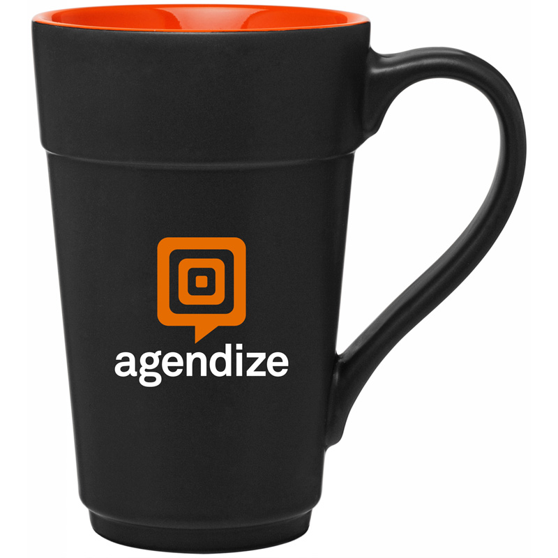 16 oz stride mug - matte black